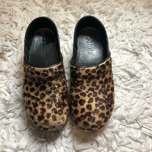 Sanita Leopard Print Clogs